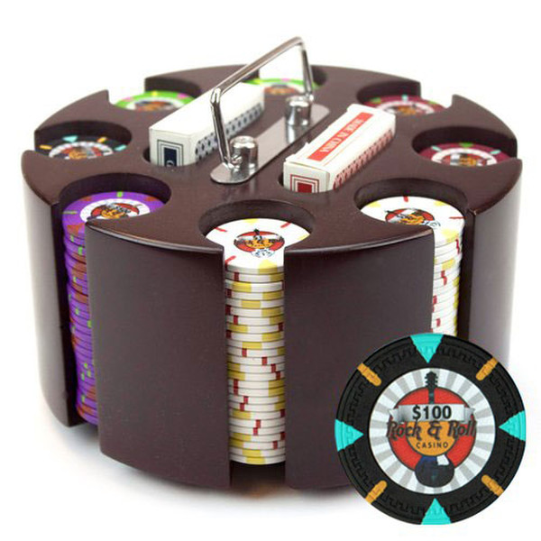 200 'Rock & Roll' Poker Chip Set with Carousel