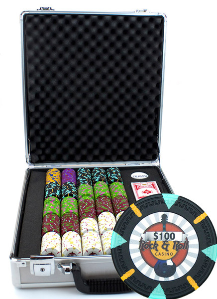 500 'Rock & Roll' Poker Chip Set with Claysmith Case