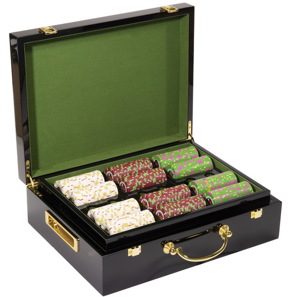 500 'Rock & Roll' Poker Chip Set with Hi Gloss Case