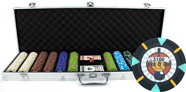 600 'Rock & Roll' Poker Chip Set with Aluminum Case