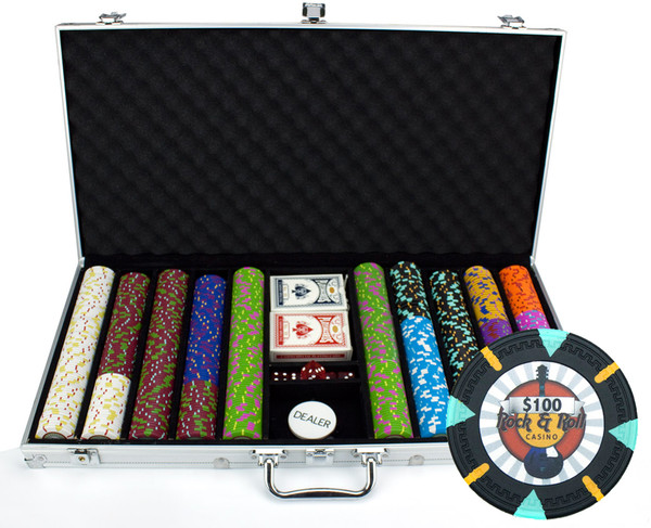 750 'Rock & Roll' Poker Chip Set with Aluminum Case