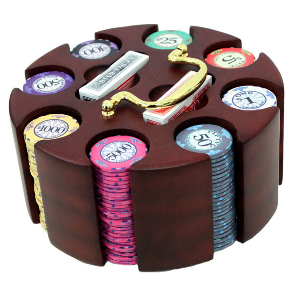 200 Scroll Poker Chip Set with Carousel