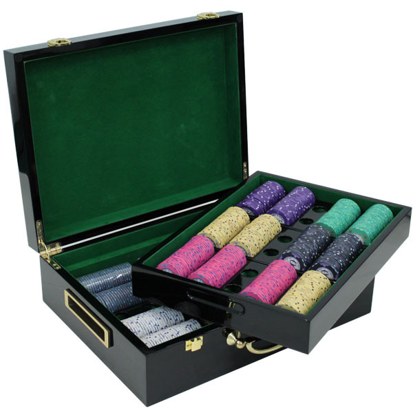500 Scroll Poker Chip Set with Hi Gloss Case