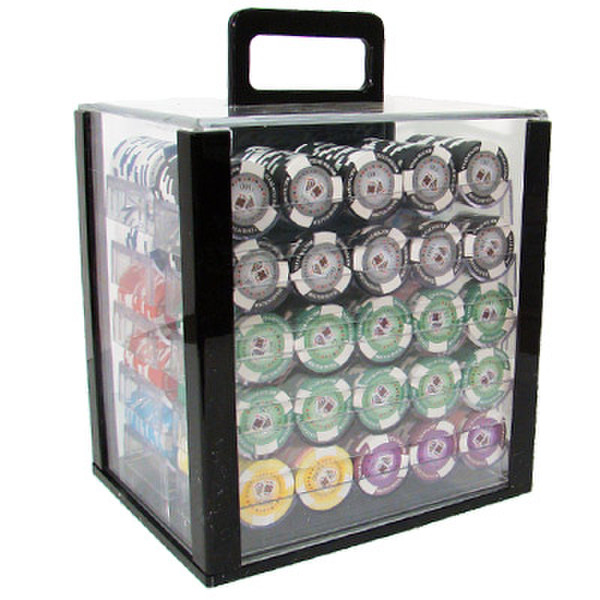 1,000 Tournament Pro Poker Chip Set with Acrylic Carrying Case
