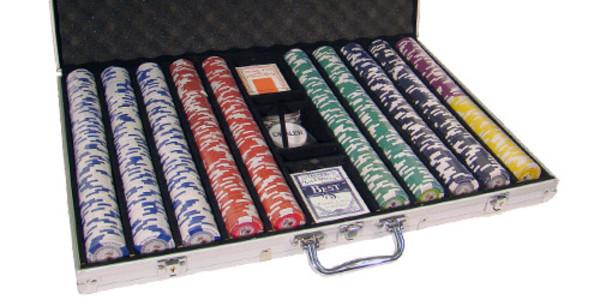 1,000 Tournament Pro Poker Chip Set with Aluminum Case
