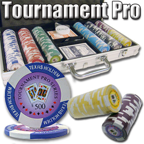 300 Tournament Pro Poker Chip Set with Aluminum Case