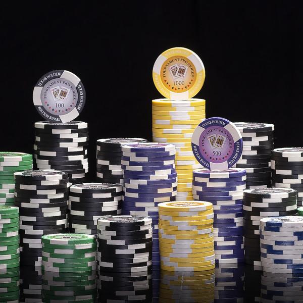 300 Tournament Pro Poker Chip Set with Aluminum Case