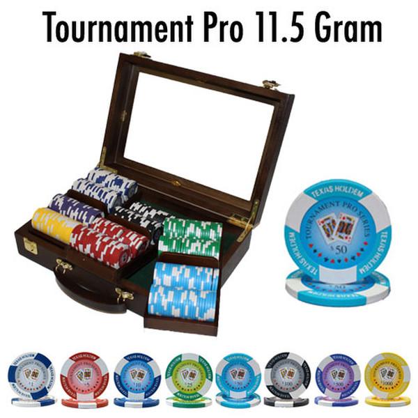 300 Tournament Pro Poker Chip Set with Walnut Case