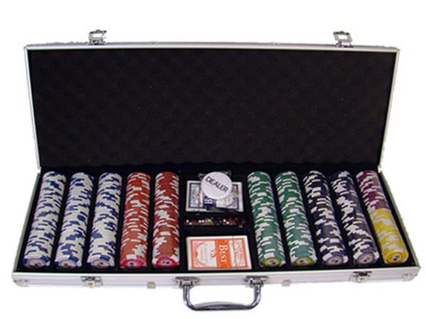 500 Tournament Pro Poker Chip Set with Aluminum Case