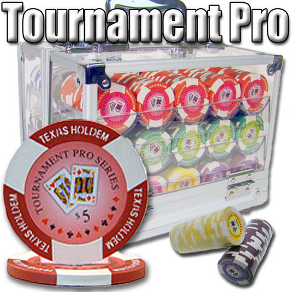 600 Tournament Pro Poker Chip Set with Acrylic Carrying Case