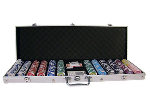600 Tournament Pro Poker Chip Set with Aluminum Case