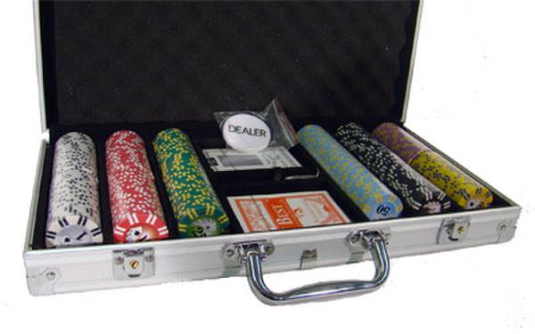 300 2 Stripe Twist Poker Chip Set with Aluminum Case