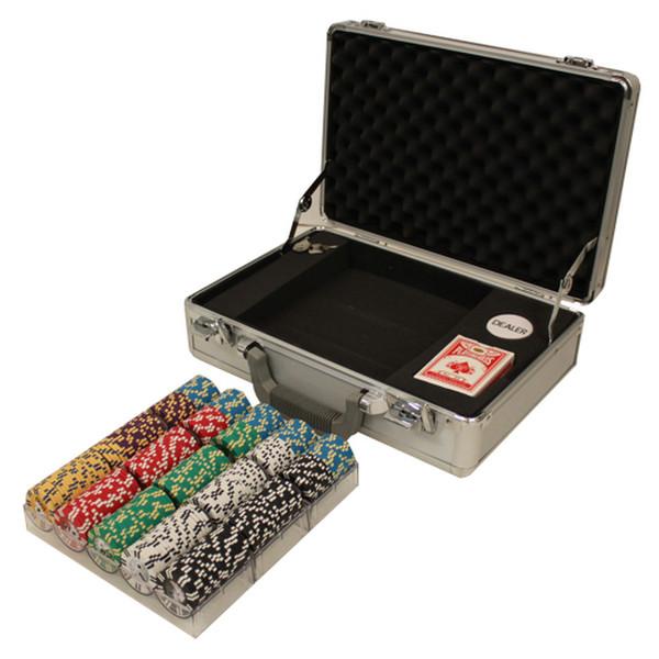 300 2 Stripe Twist 8 Pokers Set with Claysmith Case
