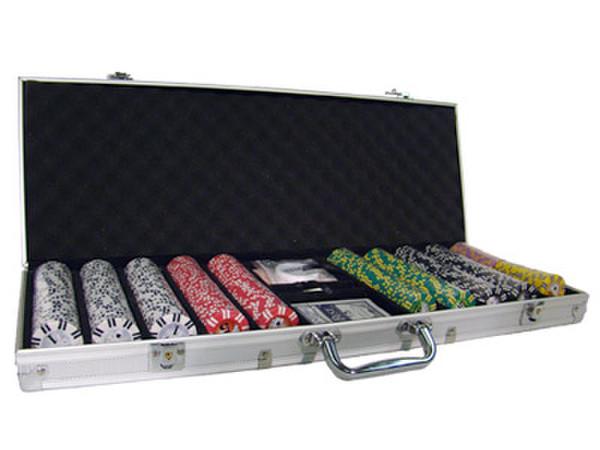 500 2 Stripe Twist Poker Chip Set with AluminumCase