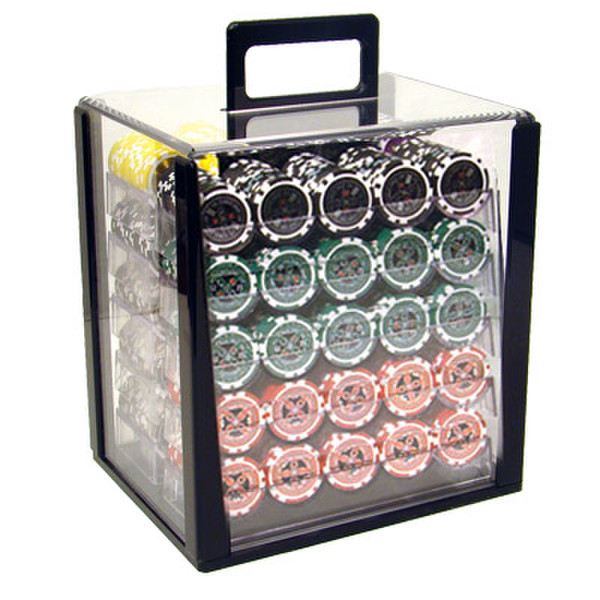 1,000 Ultimate Poker Chip Set with Acrylic Carrying Case