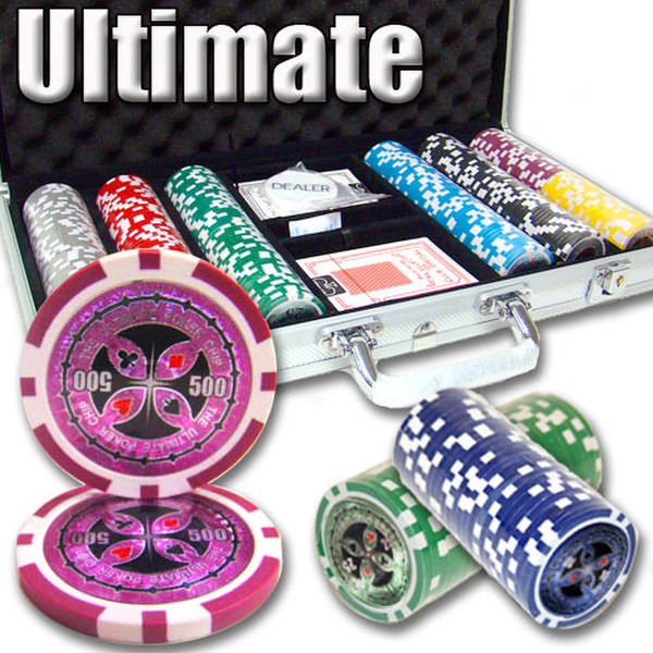 300 Ultimate Poker Chip Set with Aluminum Case
