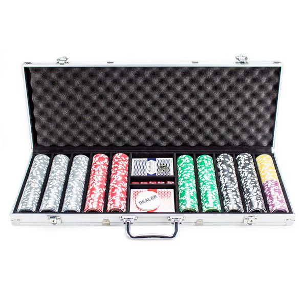 500 Ultimate Poker Chip Set with Aluminum Case