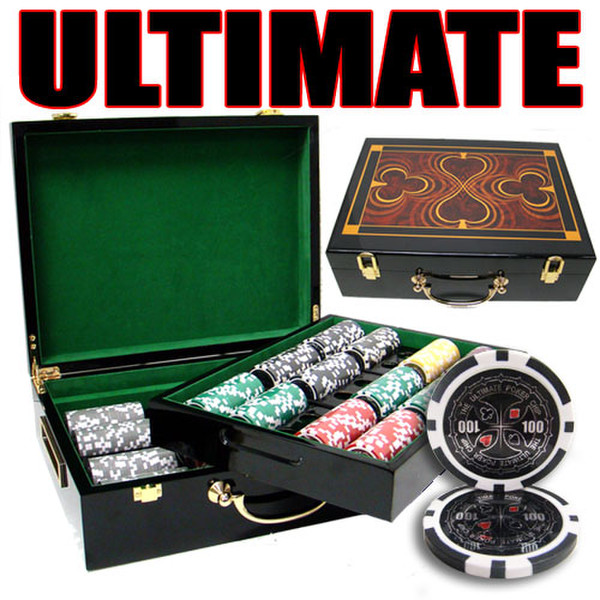 500 Ultimate Poker Chip Set with Hi Gloss Case