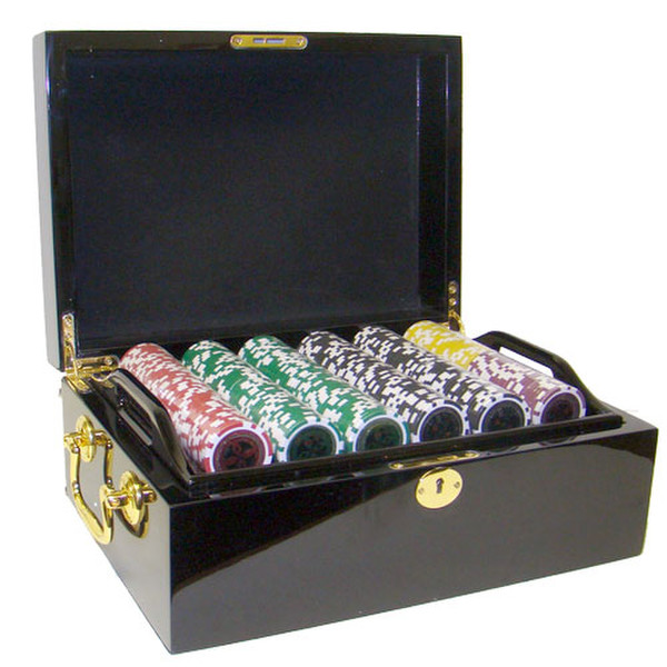 500 Ultimate Poker Chip Set with Black Mahogany Case