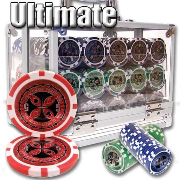 600 Ultimate Poker Chip Set with Acrylic Carrying Case