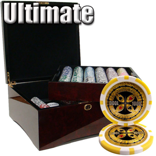 750 Ultimate Poker Chip Set with Mahogany Case
