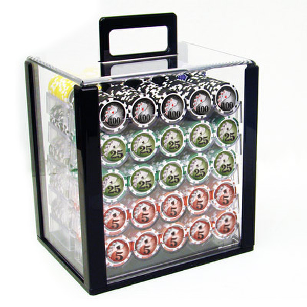 1,000 Yin Yang Poker Chip Set with Acrylic Carrying Case