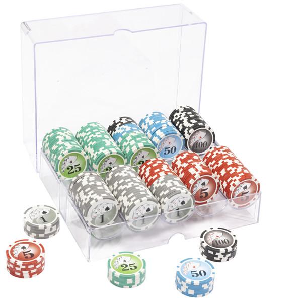 200 Yin Yang Poker Chip Set with Acrylic Tray
