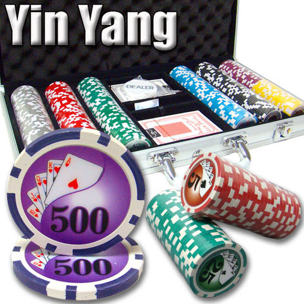 300 Yin Yang Poker Chip Set with Aluminum Case
