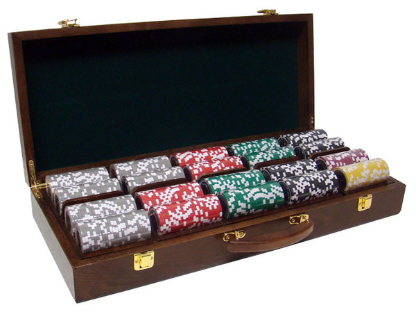 500 Yin Yang Poker Chip Set with Walnut Case