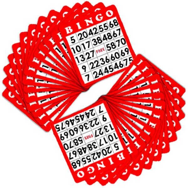 100 Red Bingo Cards