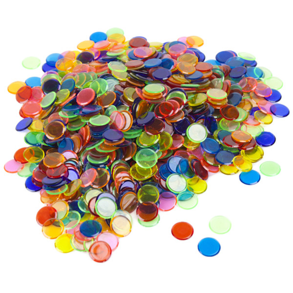 1000 Mixed Colored Bingo Chips