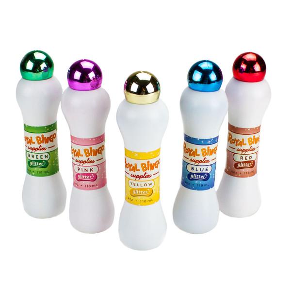 Five Neon Glitter Bingo Daubers