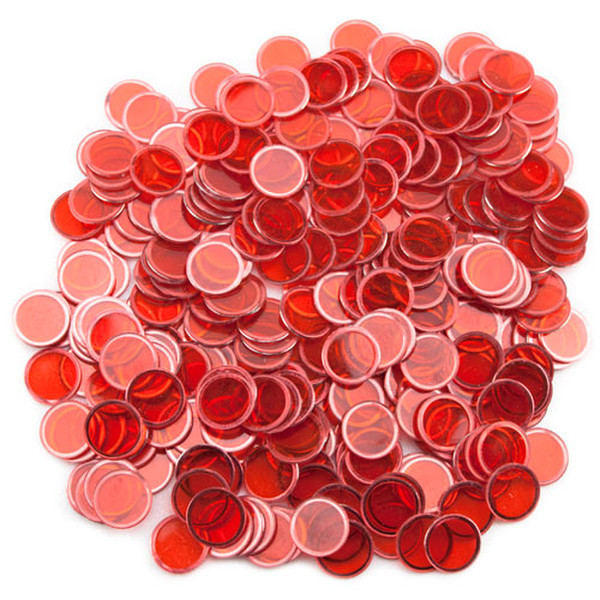 300 Red Magnetic Bingo Chips