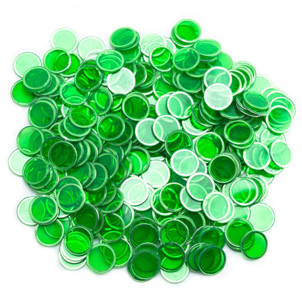 300 Green Magnetic Bingo Chips