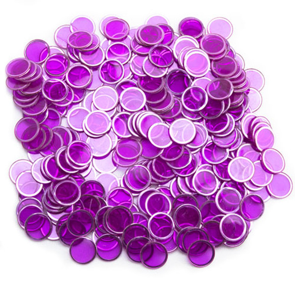 300 Purple Magnetic Bingo Chips