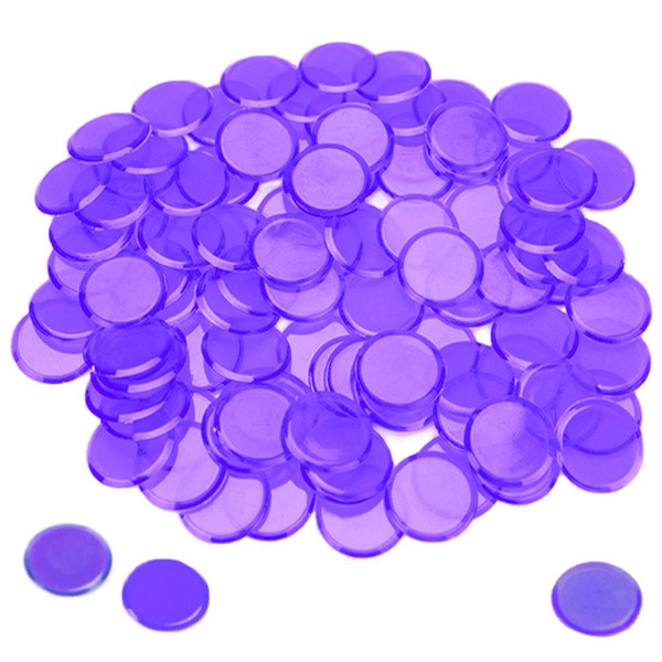 100 Purple Bingo Chips