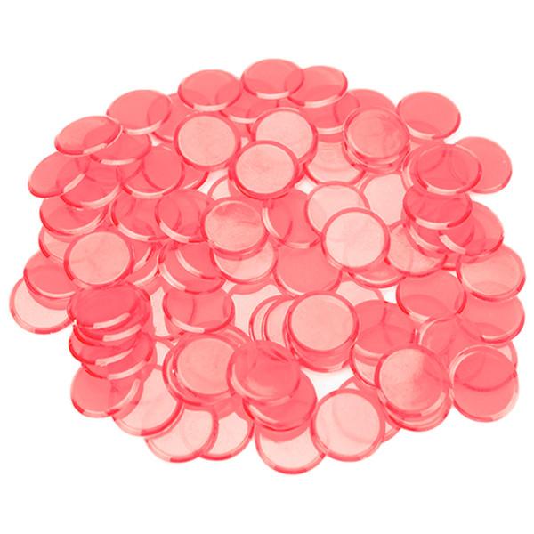100 Pink Bingo Chips