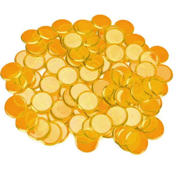 100 Orange Bingo Chips