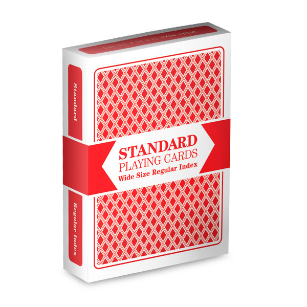 Red Wide Size, Regular-Index Playing Cards