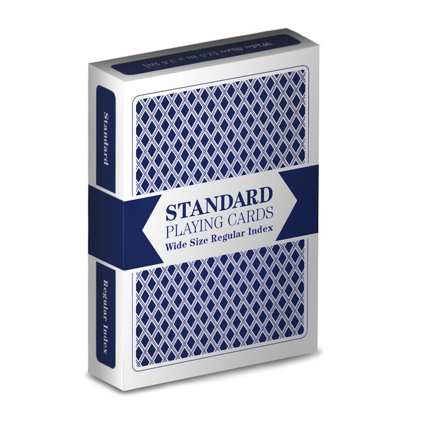 Blue Wide Size, Regular -Index Playing Cards