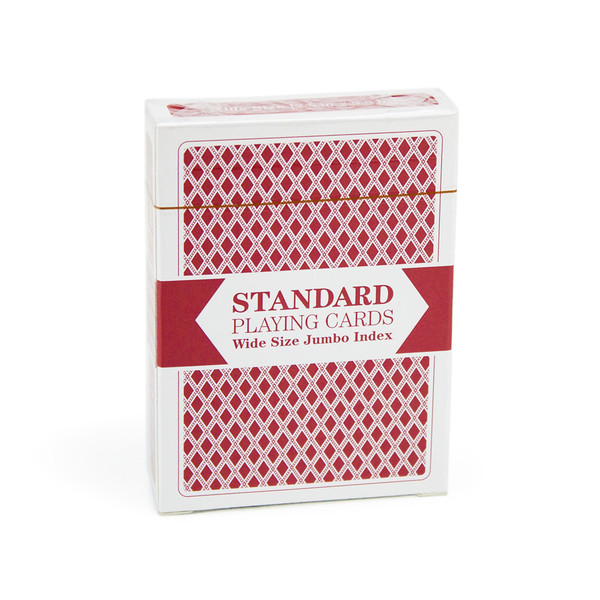 Red Wide Size, Jumbo-Index Playing Cards