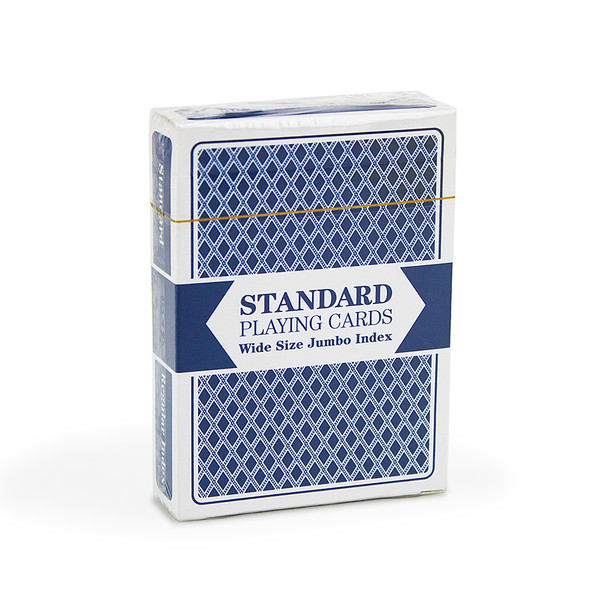 Blue Wide Size, Jumbo-Index Playing Cards