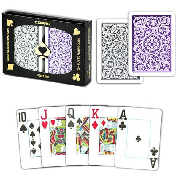 Copag 1546 Poker Purple/Gray Jumbo Index