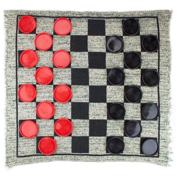 3 in 1 Jumbo Checker Rug Game