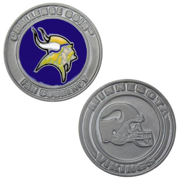 Challenge Coin Card Guard - Minnesota Vikings