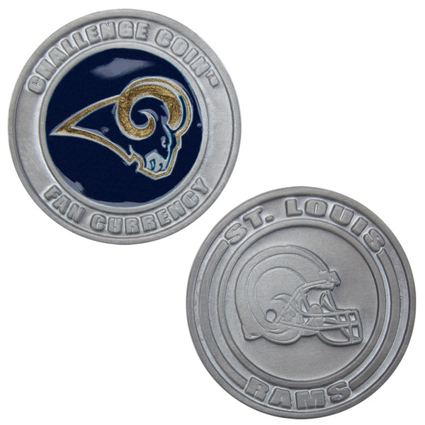 Challenge Coin Card Guard - St. Louis Rams