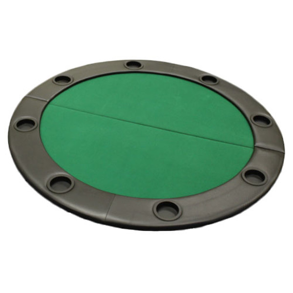 "48"" Green Round Poker Table Top with Padded Rail"