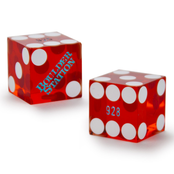 Pair (2) of 19mm Casino Dice Used at Boulder Station