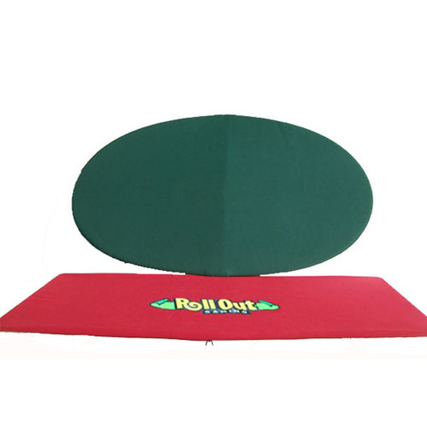 """Rollout Gaming 48""""x82"""" Red/Green Neoprene Playing Surface"""