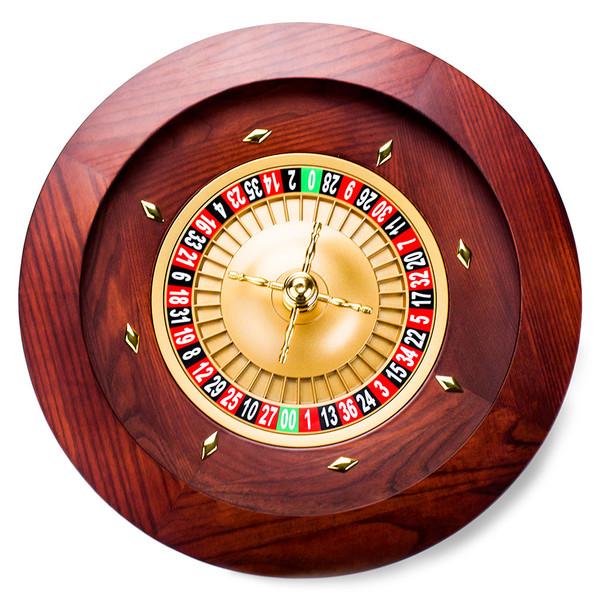 Deluxe Wooden Roulette Wheel - 18 inch